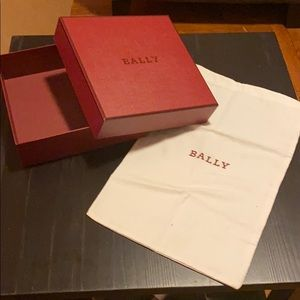 Bally collectible box and dust bag